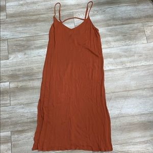 Forever 21 burnt orange midi dress